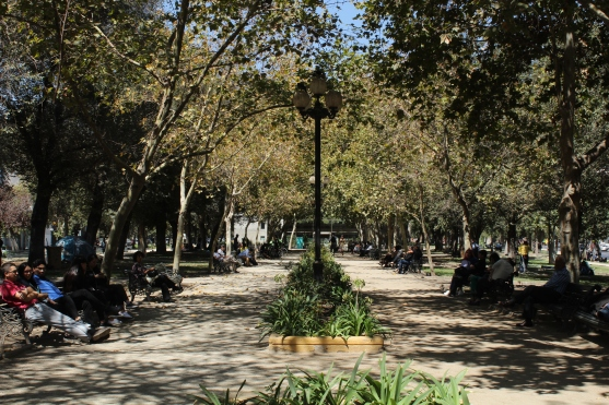 green spots in Santiago