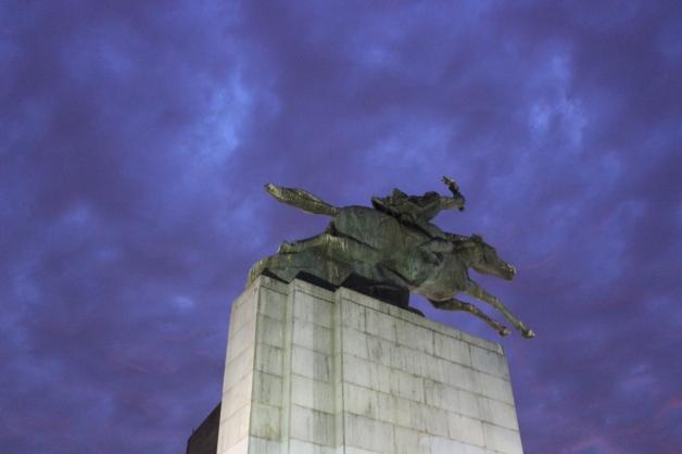 Estatua Manuel Rodriguez, Santiago